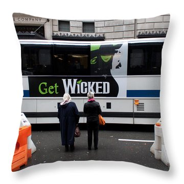 Invitation To Get Wicked Throw Pillow by Thomas Marchessault