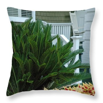 Inviting Front Porch Throw Pillow by Bruce Gourley