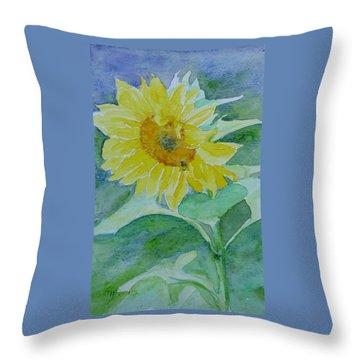 Inviting Sunflower Small Sunflower Art Throw Pillow