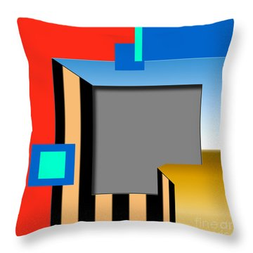 Inw_20a2958 Cliff N Trees Throw Pillow