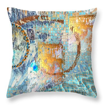 Inw_20a6020sq Ageless Glacial Memories Throw Pillow