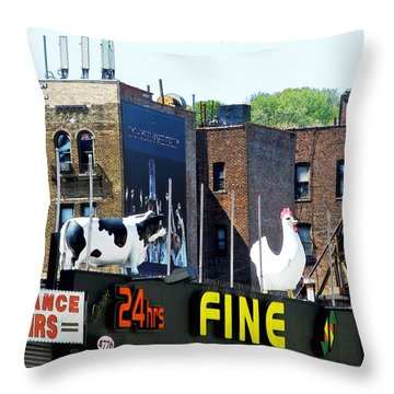 Inwood Farm Throw Pillow by Sarah Loft