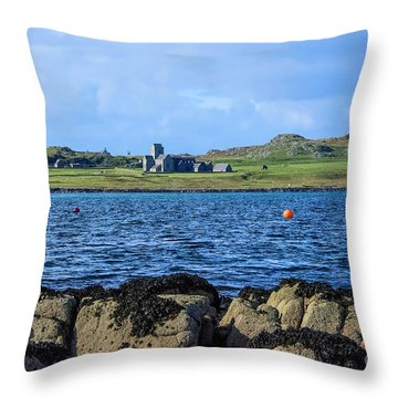 Iona Abbey Isle Of Iona Throw Pillow