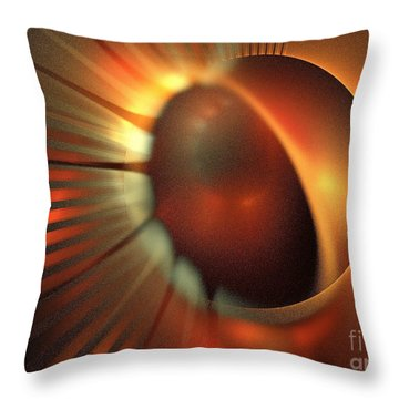 Iota Draconis Throw Pillow by Kim Sy Ok