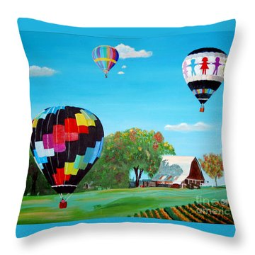 Iowa Balloons Throw Pillow