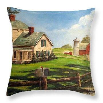 Cherokee Iowa Farm House Throw Pillow