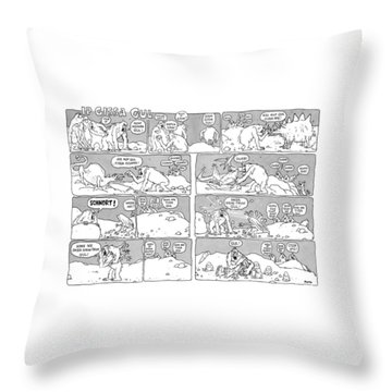'ip Gissa Gul' Throw Pillow