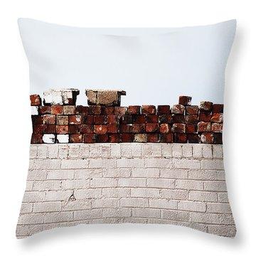 #ipromiseyouwalls Throw Pillow by Becky Furgason
