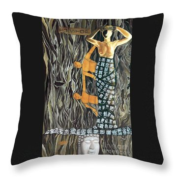 Throw Pillow featuring the painting I Q Stoped by Fei A