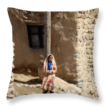 Iran Kandovan Resident  Throw Pillow by Lois Ivancin Tavaf