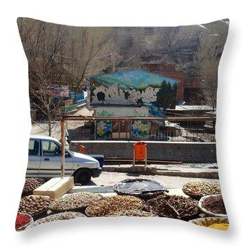 Iran Kandovan Spices Throw Pillow by Lois Ivancin Tavaf