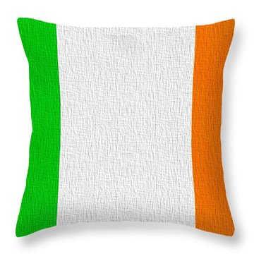 Ireland Flag Throw Pillow by Dan Sproul