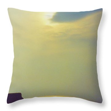 Ireland Giant's Causeway Ethereal Light Throw Pillow by First Star Art