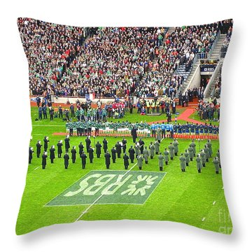 Ireland Vs France Throw Pillow by Suzanne Oesterling