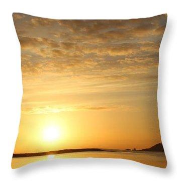 Irelands Eye At Dawn Throw Pillow
