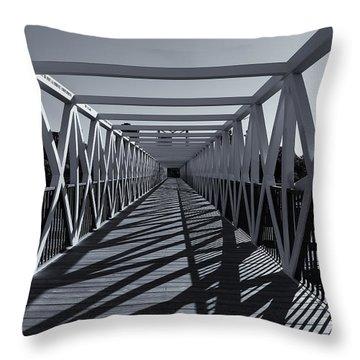 Irene Hixon Whitney Bridge  Mono Throw Pillow