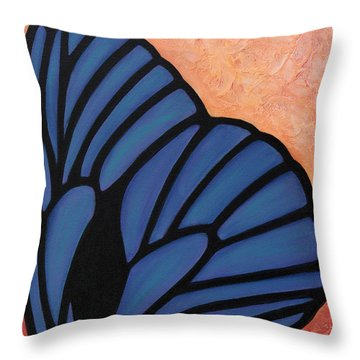 Iridescent Expression Throw Pillow