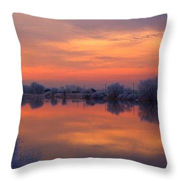 Throw Pillow featuring the photograph Iridescent Sunset by Lynn Hopwood