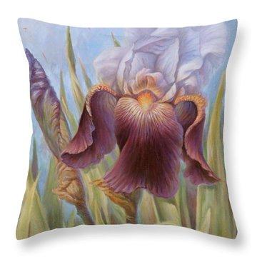 Iris 1 Throw Pillow