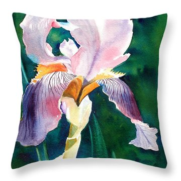 Iris 1 Throw Pillow by Marilyn Jacobson
