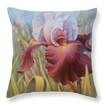 Iris 2 Throw Pillow