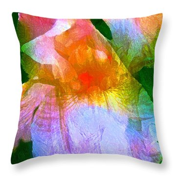 Iris 53 Throw Pillow by Pamela Cooper