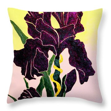 Iris Throw Pillow by Andrew Petras