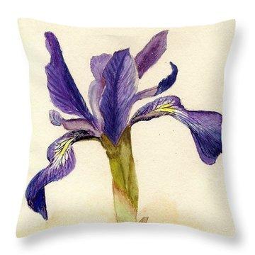 Iris Throw Pillow by Barbie Corbett-Newmin