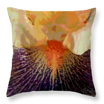 Iris Beard Throw Pillow by Sally Simon