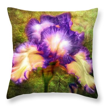 Iris Beauty Throw Pillow