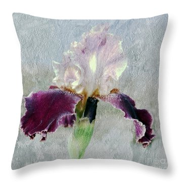 Throw Pillow featuring the photograph Iris Collection by Irina Hays