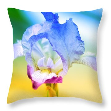 Throw Pillow featuring the photograph Iris by Denise Tomasura