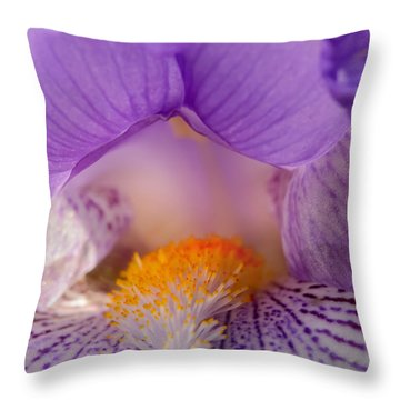 Iris Detail Throw Pillow