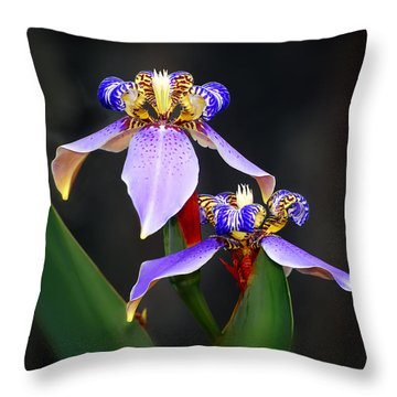 Iris Duet Throw Pillow