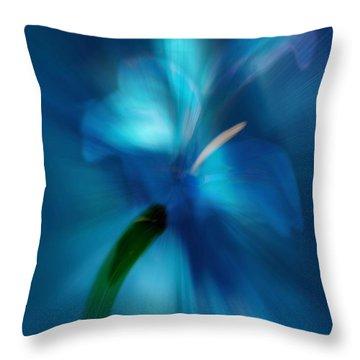 Throw Pillow featuring the digital art Iris Essence by Frank Bright