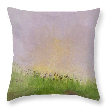 Iris Field Throw Pillow