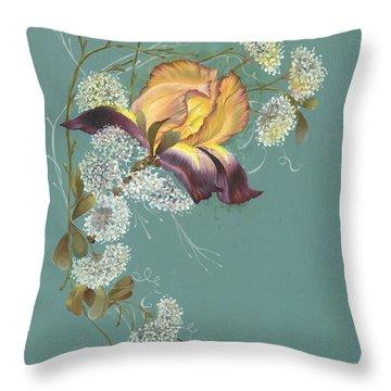 Iris Garland Throw Pillow