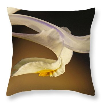 Throw Pillow featuring the photograph Iris by Inge Riis McDonald