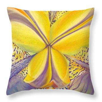 Throw Pillow featuring the drawing Iris by Joshua Morton