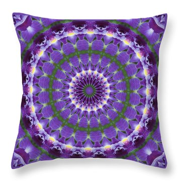 Iris Kaleidoscope  Throw Pillow