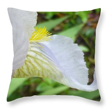 Iris Macro 2 Throw Pillow