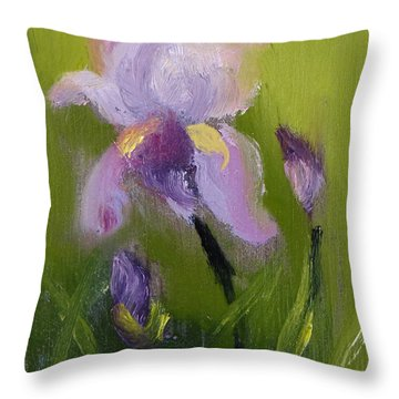 Iris Miniature Throw Pillow