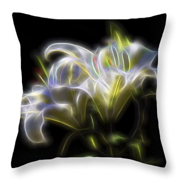 Throw Pillow featuring the digital art Iris Of The Eye by William Horden