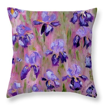 Iris Pattern Throw Pillow
