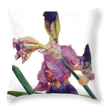 Iris Rhapsody Throw Pillow by Greta Corens
