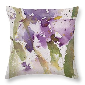 Iris Study #3 Throw Pillow