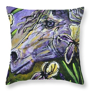 Iris Upon A Star Throw Pillow