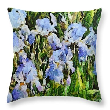 Irises Throw Pillow by Dragica  Micki Fortuna