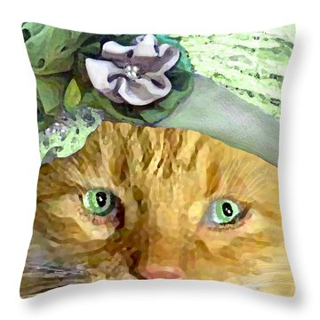 Irish Cat Throw Pillow