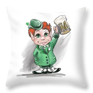 Irish Cheers Throw Pillow